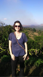 Stefana enjoying the beauty of Nicaragua.